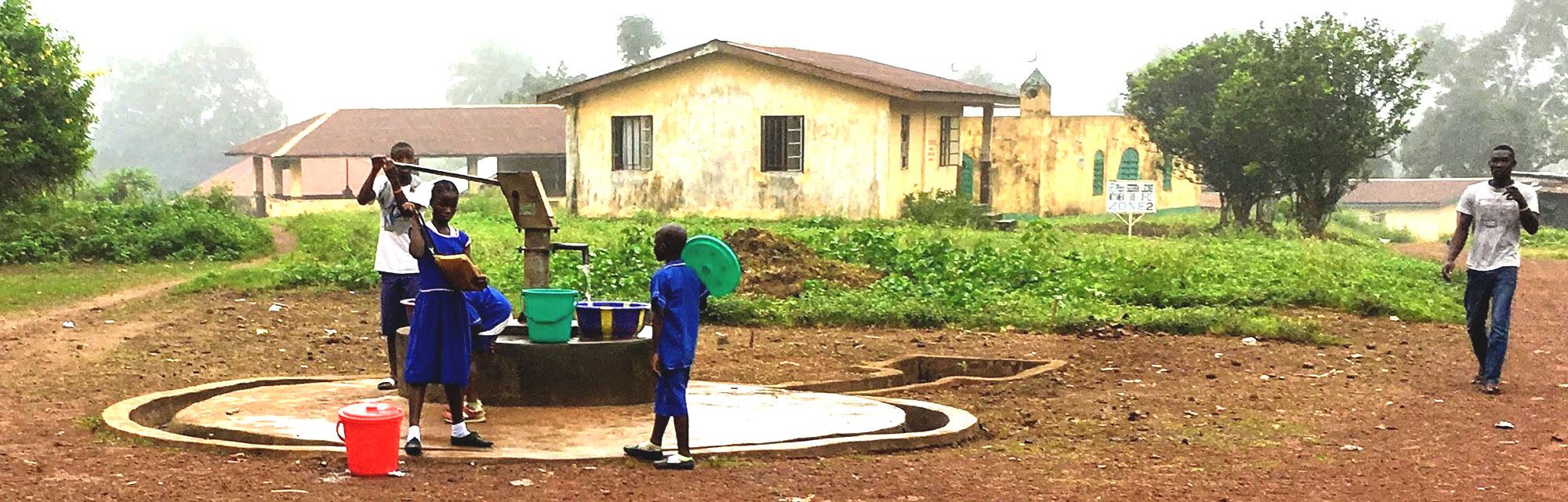 water well in Rotifunk Sierra Leone
