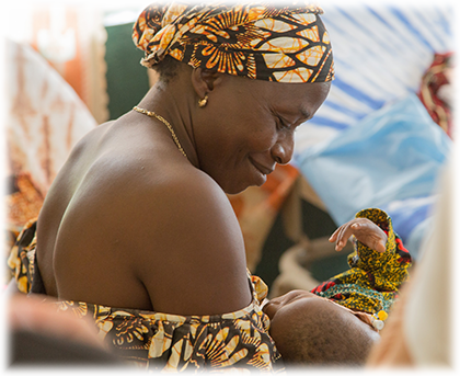 mother and newborn in Rotifunk, Sierra Leone