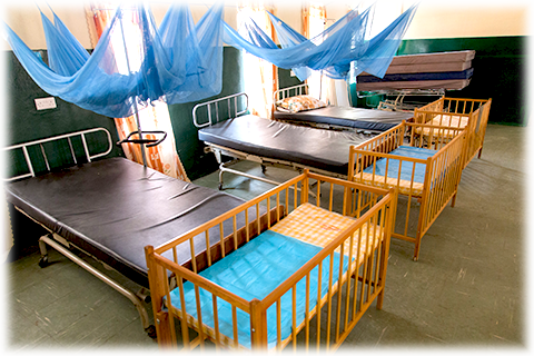new maternity ward with mosquito nets in Rotifunk Hospital