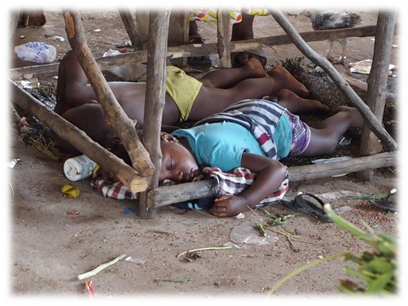poverty in Sierra Leone - 50% of population is under age 16