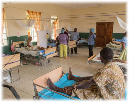 badly needed medical supplies for patients in Rotifunk Hospital, Sierra Leone