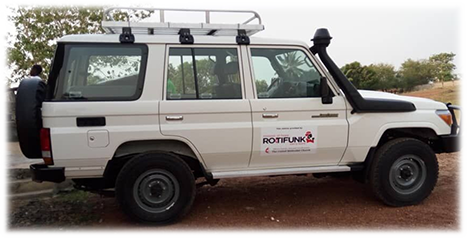 Toyota Land Cruiser provided to the Rotifunk Hospital