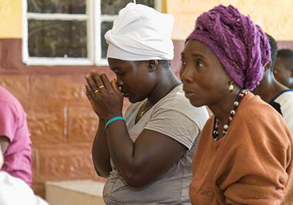 Women of Rotifunk praying